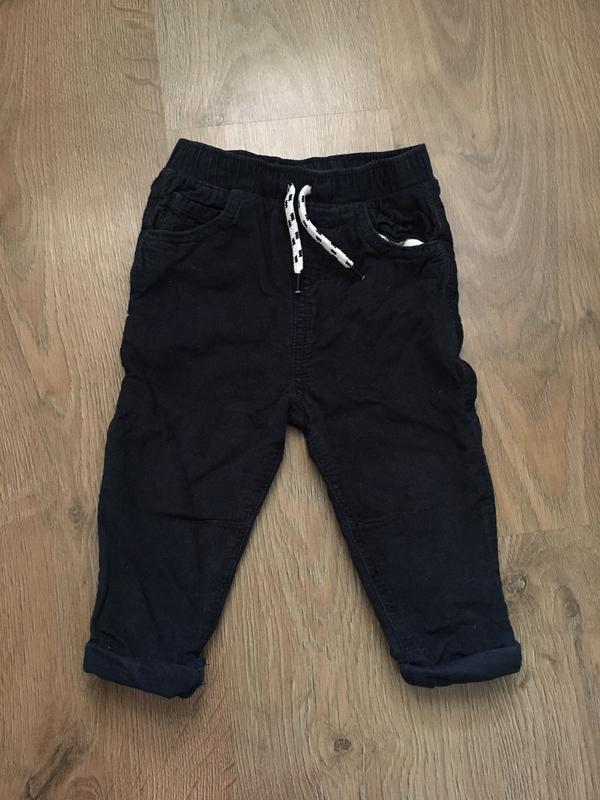 Темно-синие вельветовые штаны tu на х/б подкладке на 12-18 мес...