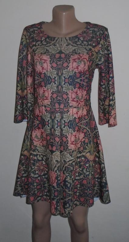 Осенее платье мини в цветочный принт/плаття міні в квітковий п...