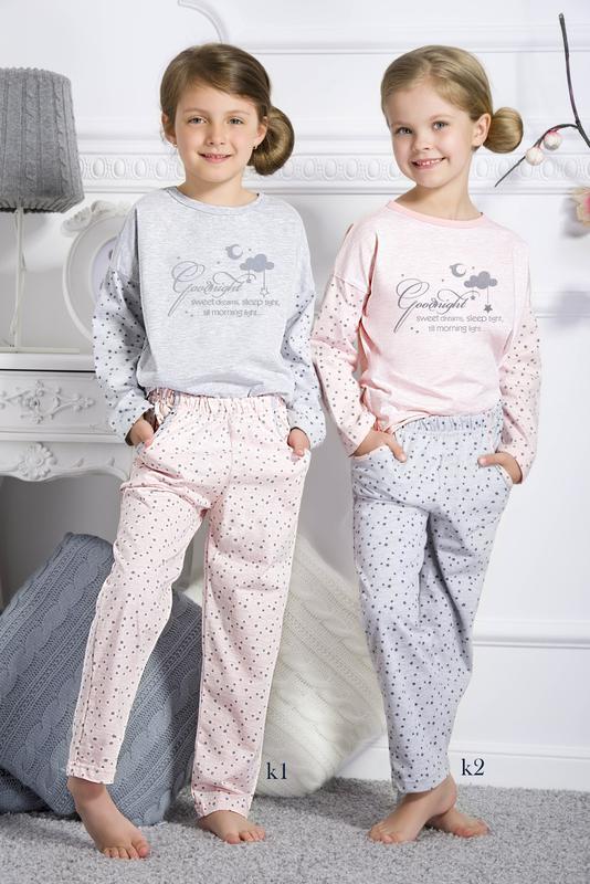 Хлопковая пижама для девочки taro