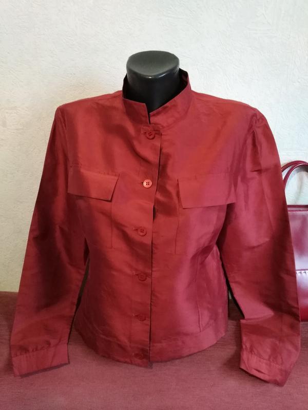 Натуральный шелк, чесуча, блузочка, лёгкий пиджачок, globus