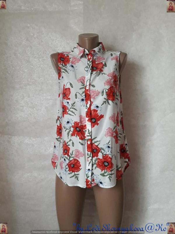 Фирменная h&m яркая нарядная вискозная блуза в яркие красные м...