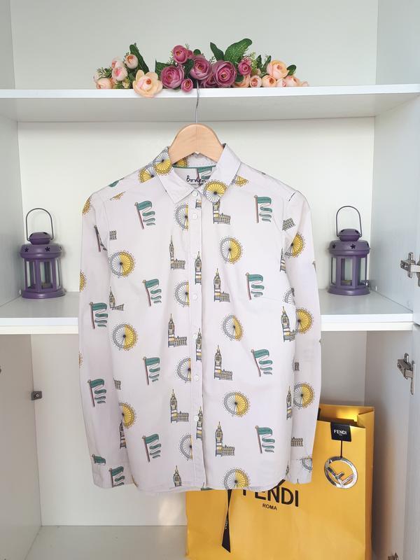 Хлопковая блузка рубашка boden
