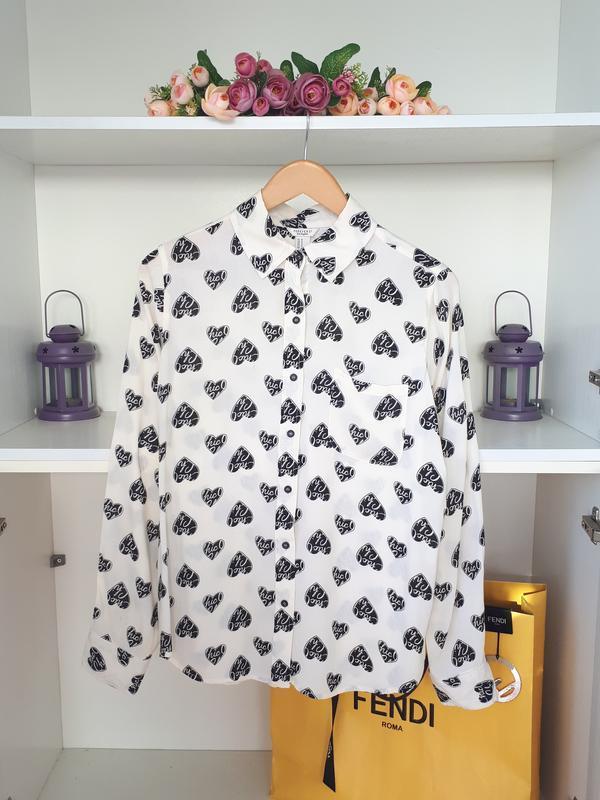 Рубашка в сердечки блузка forever 21