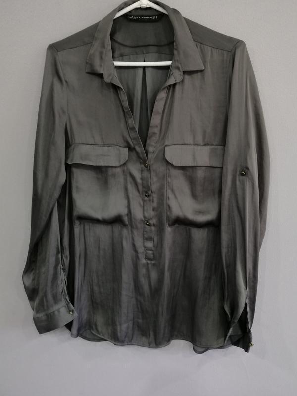 Шикарная блузка zara woman р. м