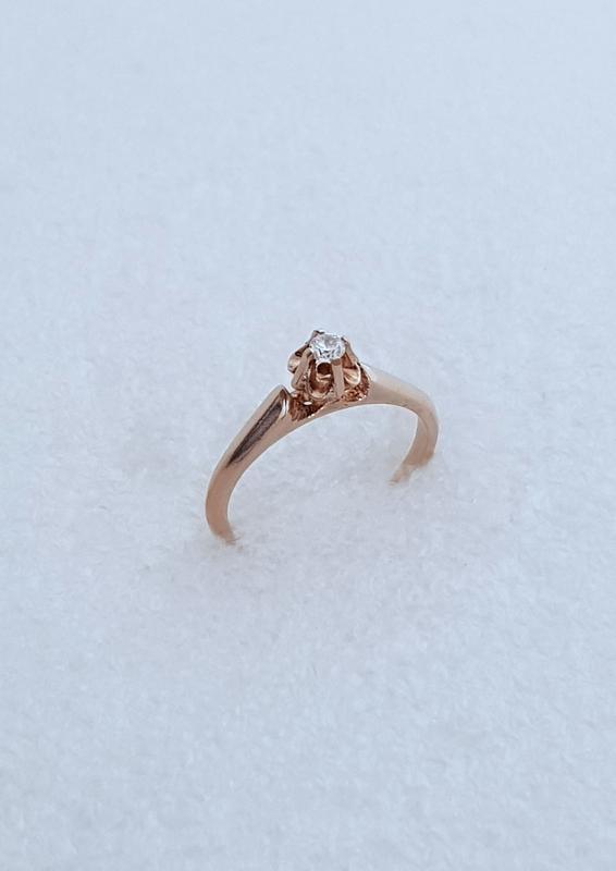 Серебряное кольцо с позолотой, 16 размер.