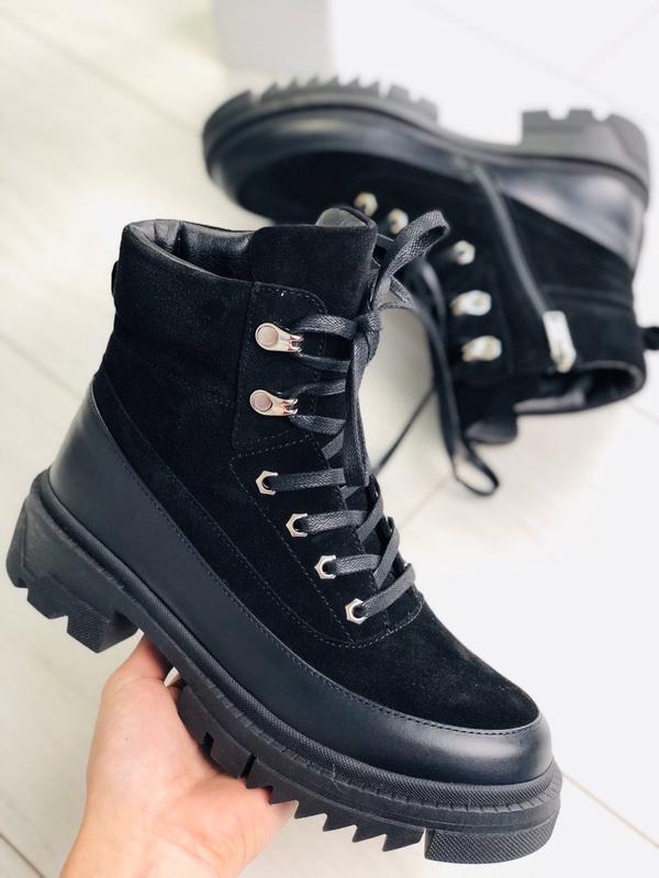 Lux обувь! идеальные высокие ботинки 🥾 на зиму натуральные кож...