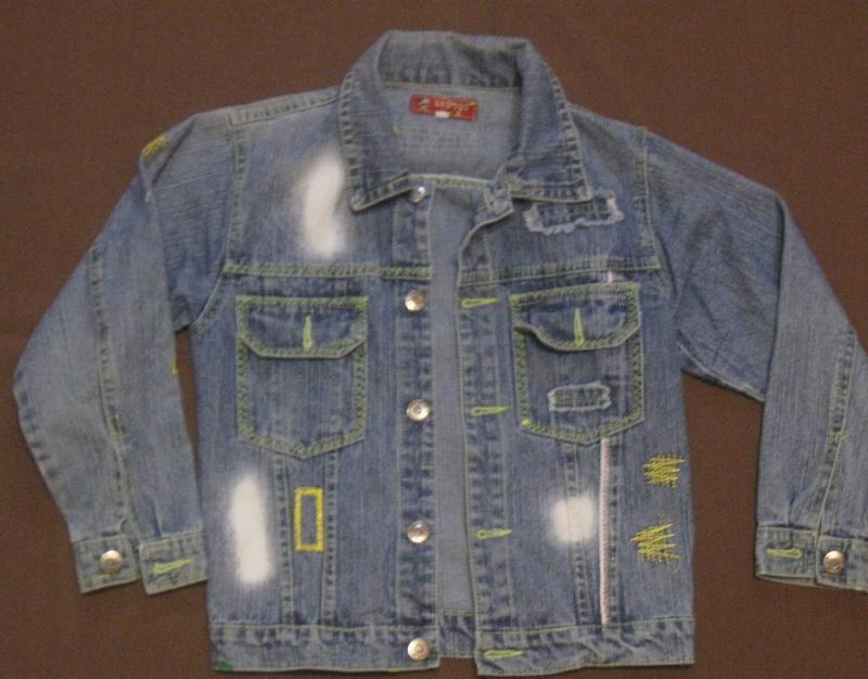 Курточка на мальчика джинсовая 2-4 года, дешево