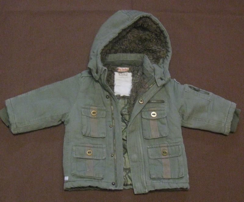 Курточка на мальчика на меху с капюшоном. 1-2 года, дешево