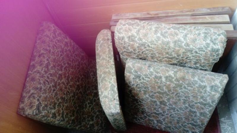 Диван складной два ретро мягкое тряпичное кресло производство ...