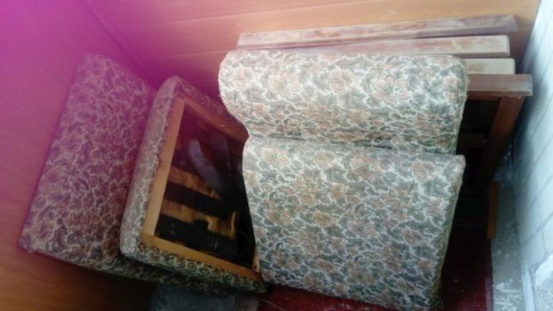 Диван складной два ретро мягкое тряпичное кресло производство ... - Фото 2