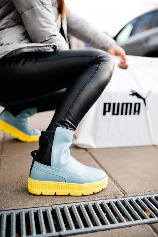 """Ботинки ️pumа by rіhanna chelsea sneaker b00t """"sterling blue/b..."""