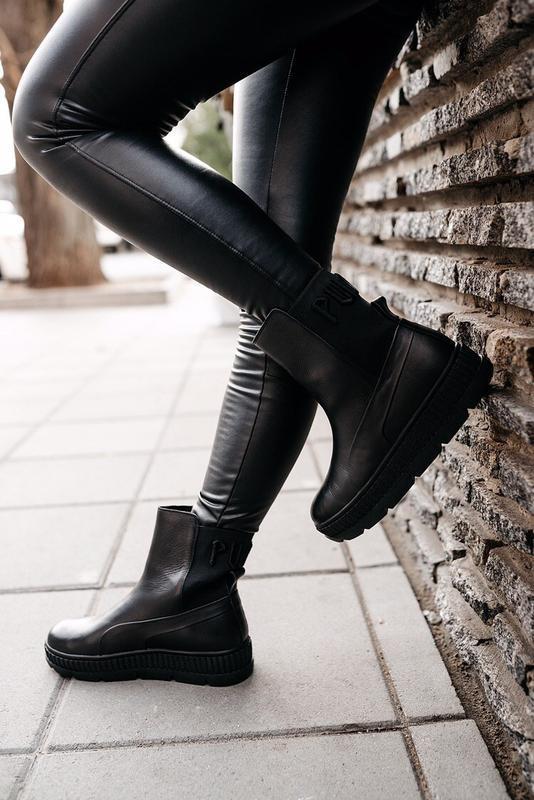 """Ботинки pumа by rihanna chelsea sneaker boot """"black"""""""