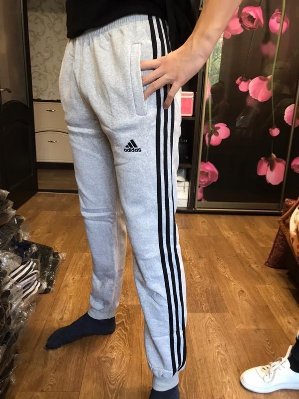 Легендарные шикарные спортивные штаны брюки на флисе с боковым...