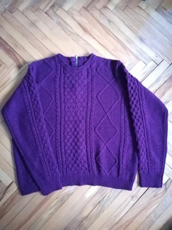 Вязаный джемпер свитер кофта бордо