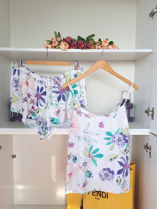 Пижама шорты и топ с вискозы love to lounge
