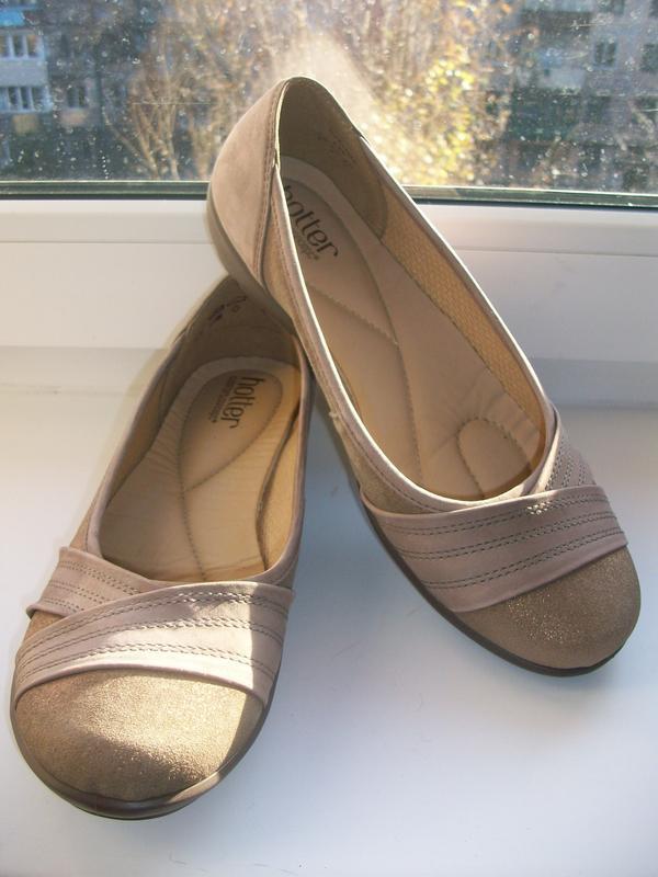 Туфли балетки женские натуральная кожа hotter р.39