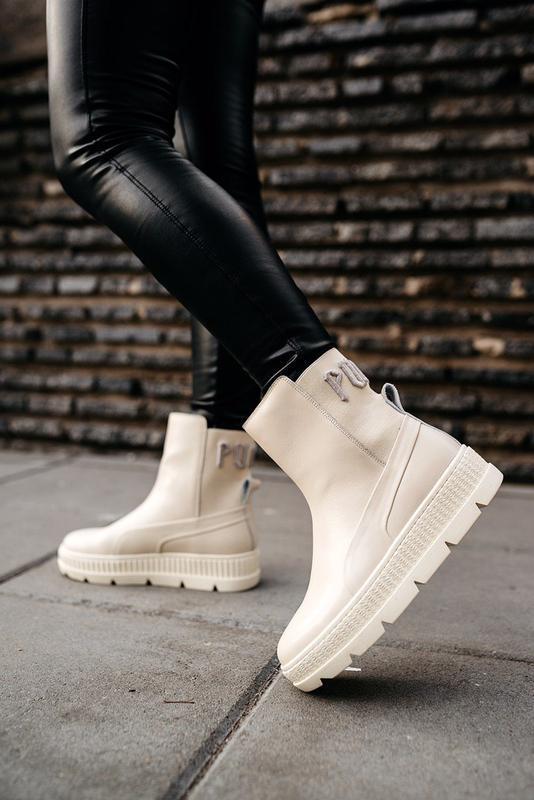 "Ботинки pumа by rіhanna chelsea sneakers bооt ""vanilla ice"""