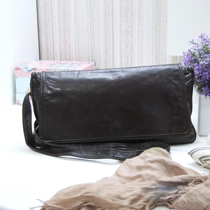 Очень интересная сумка enny, италия, натуральная кожа