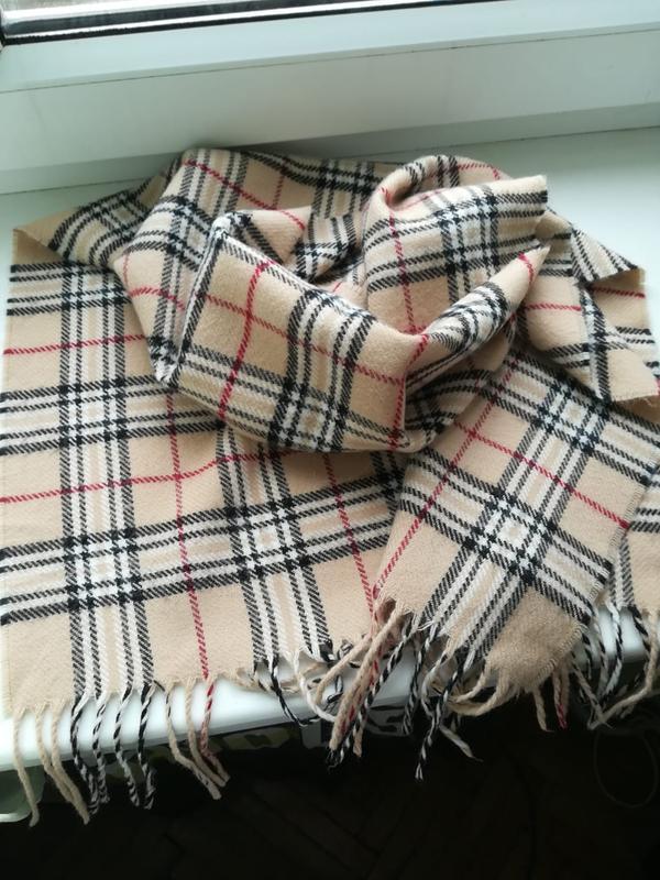 Классический шарф палантин в стиле burberry