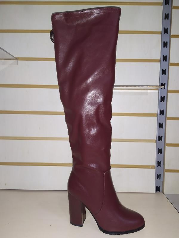 Зимние ботфорты высокие сапожки женские зима сапоги жіночі чоб...