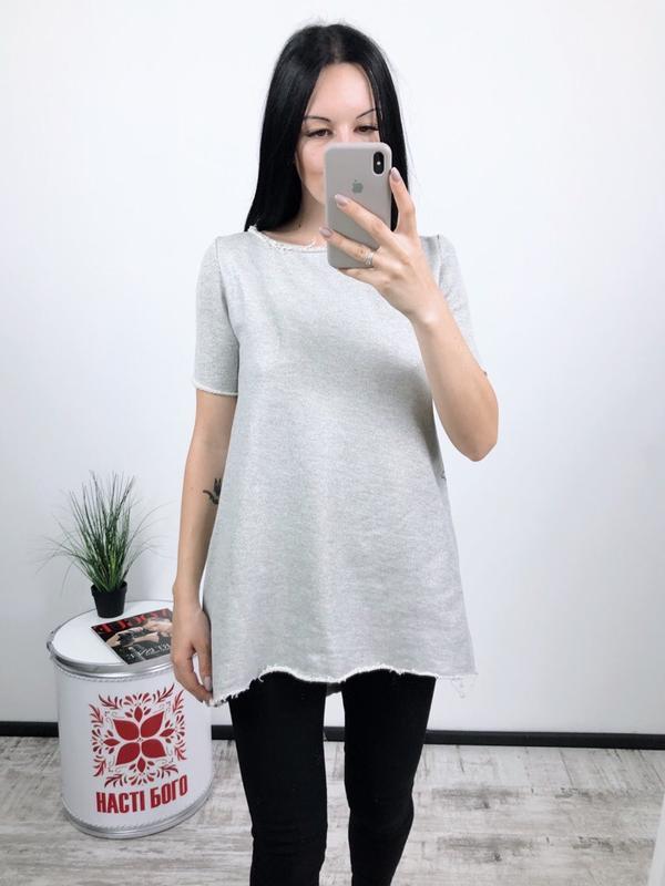 Удлиненная футболка туника с карманами calzedonia