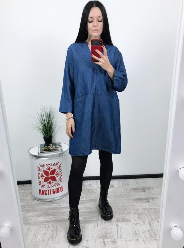 Платье льняное лён котон zara