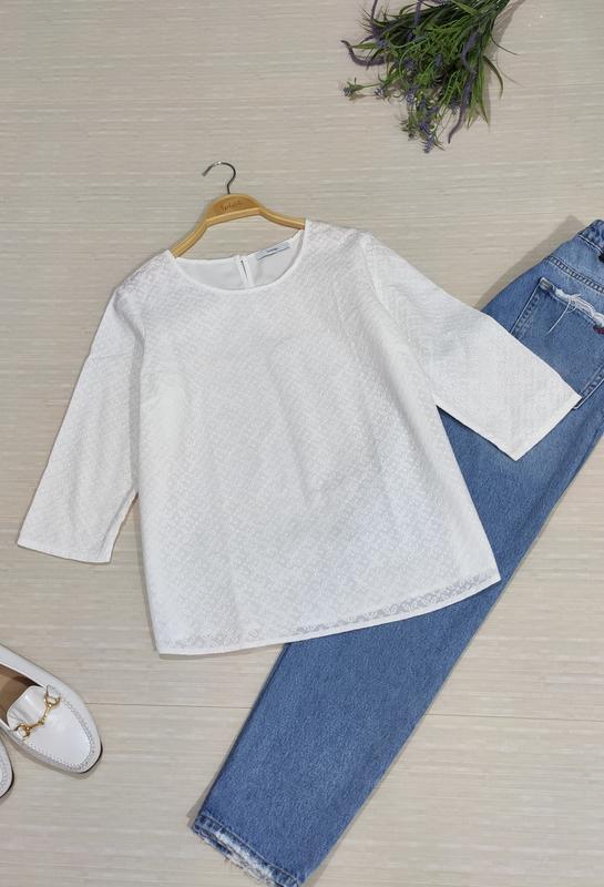 Натуральная, очень красивая блуза прошва