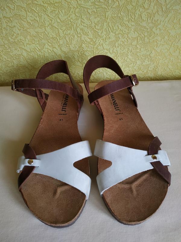 Romanelli босоножки италия новые кожаные, натуральная кожа идеал