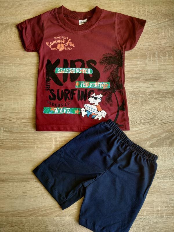 Комплект для мальчика, футболка, шорты