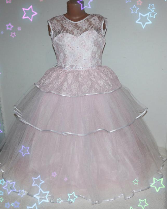 """Нарядное платье для девочки """"снежная королева"""" розовое"""