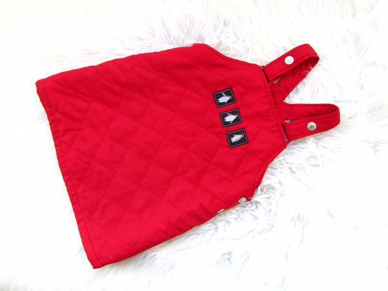 Стильное и качественное теплое платье сарафан h&m