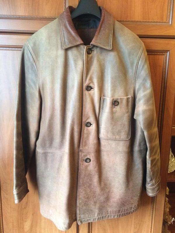 Куртка Wennaer кожаная натуральная, весна - осень, 4XL
