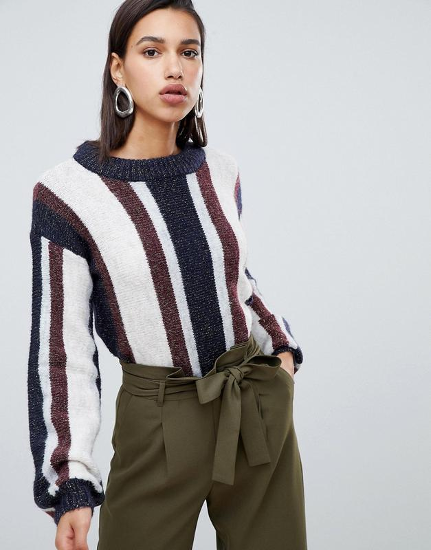 2019 теплый свитер в разноцветную полоску с шерстью альпаки as...