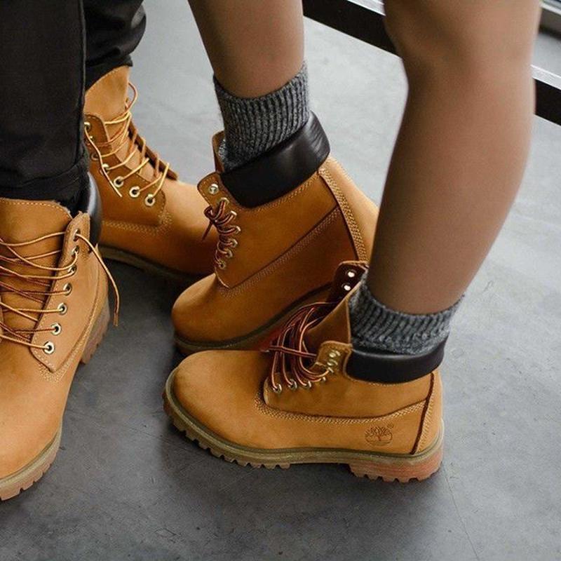 Ботинки Timberland Yellow (натур.мех)