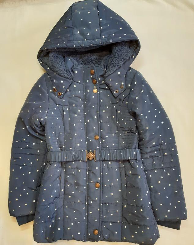 Удлиненная теплая куртка с поясом на холодную осень, теплую зиму