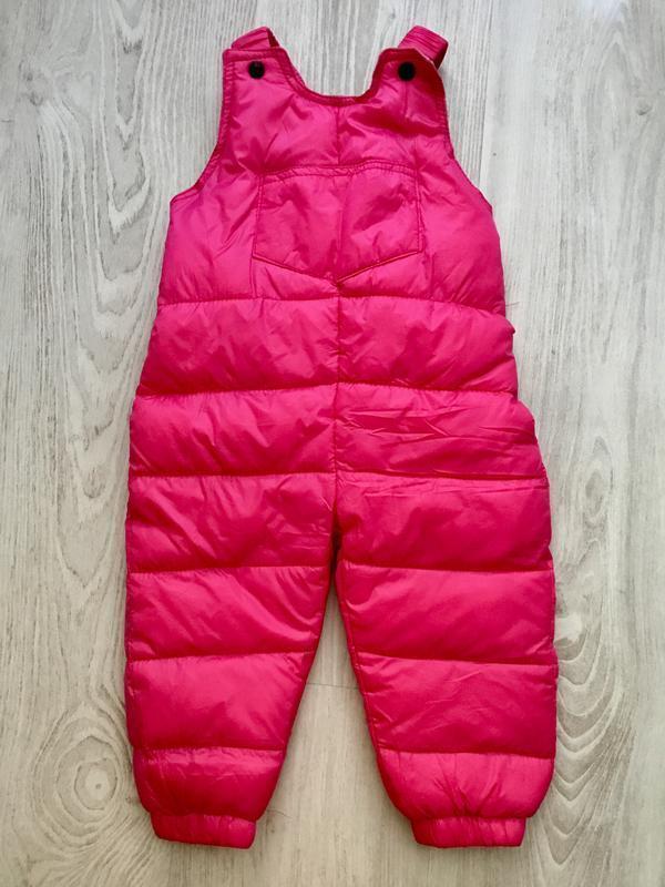 Пуховые штаны для девочки, размер 78 1-1,5 года