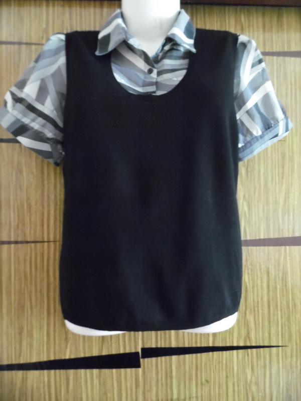 Блуза+жилет, 2в1, новая, amaranto, размер 14 – идет на 48-50.