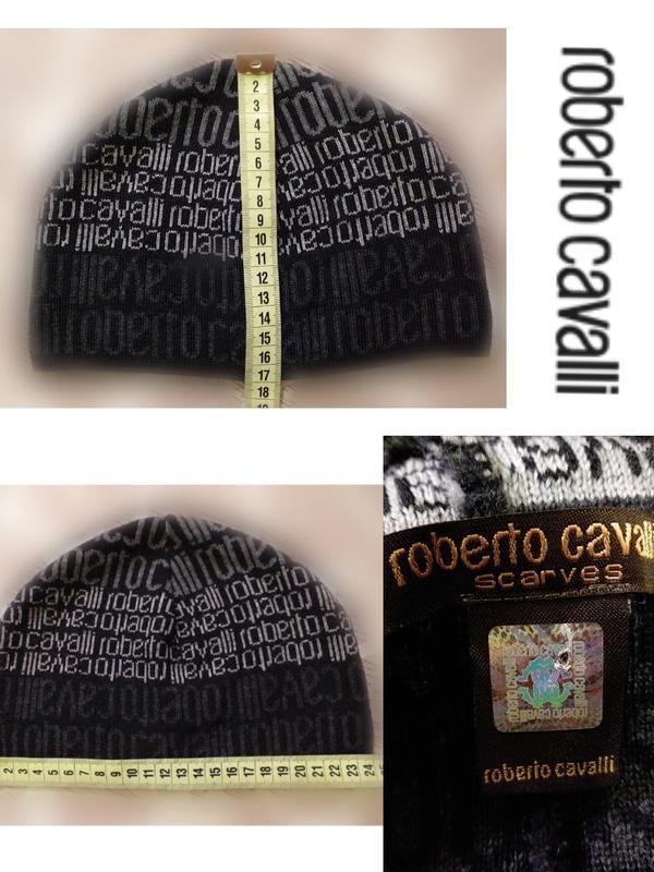 Брендовпя шерстяная шапка roberto cavalli