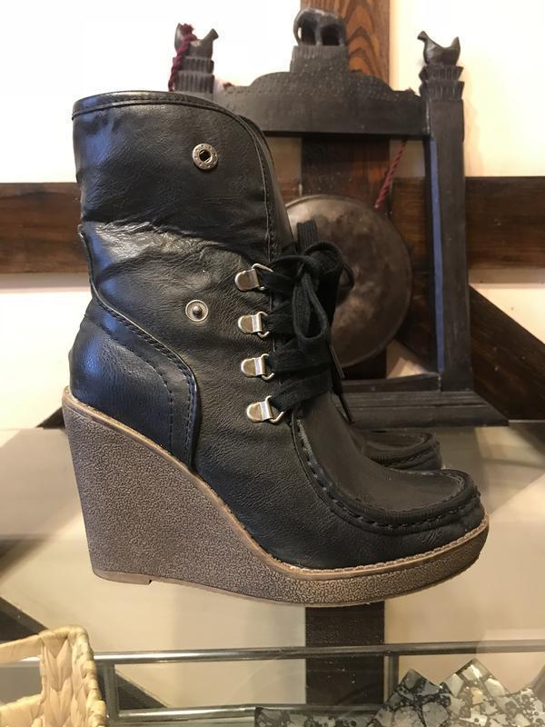 Кожаные ботинки mossimo(сша),размер 36