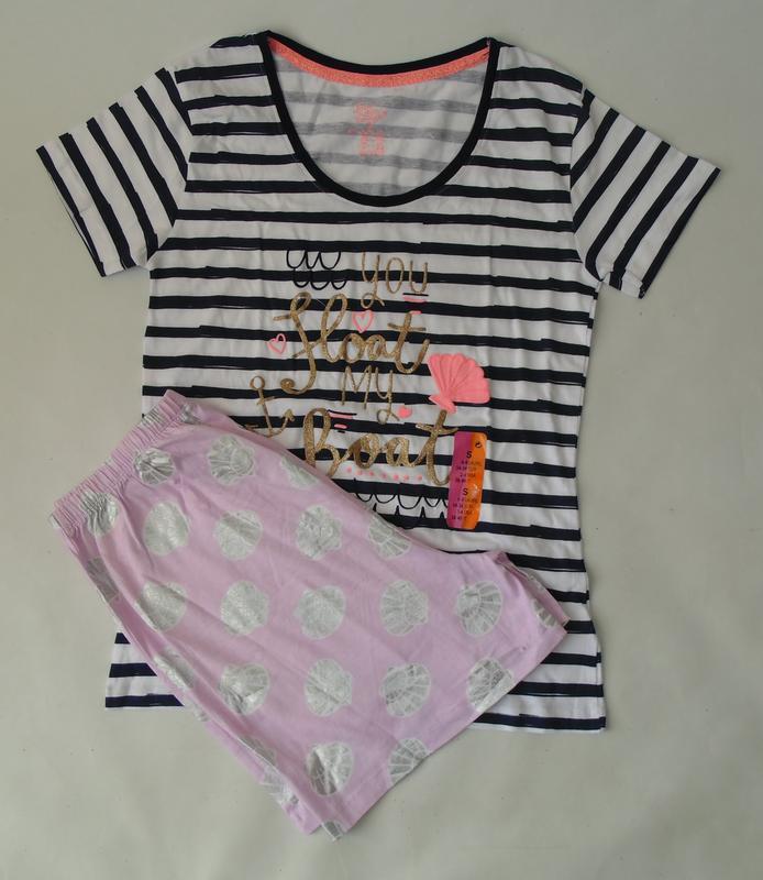 Пижама шорты - футболка primark англия с,34-36
