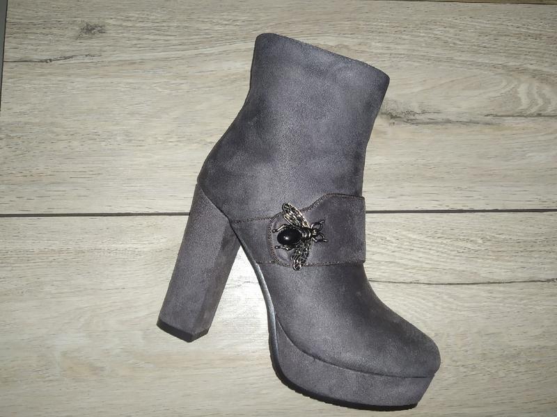 Ботильоны зимние женские ботинки жіночі полуботинки зима