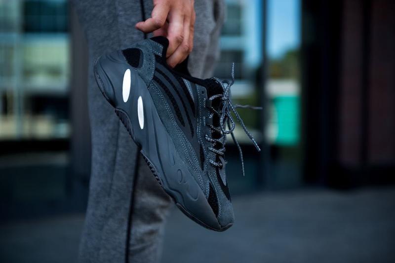 Adidas yeezy boost 700 utility black, женские/мужские чёрные д...