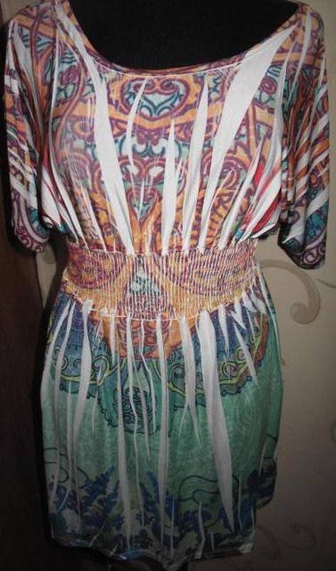 Легка кольорова сукня ambika л