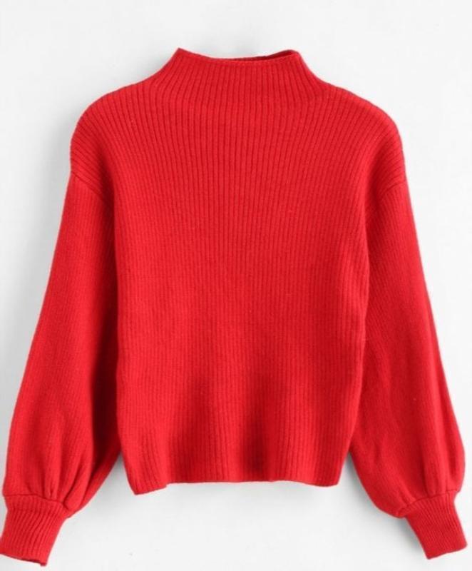 Кофта червона, світер, трендовий модний світшот, мода 2019. яс...