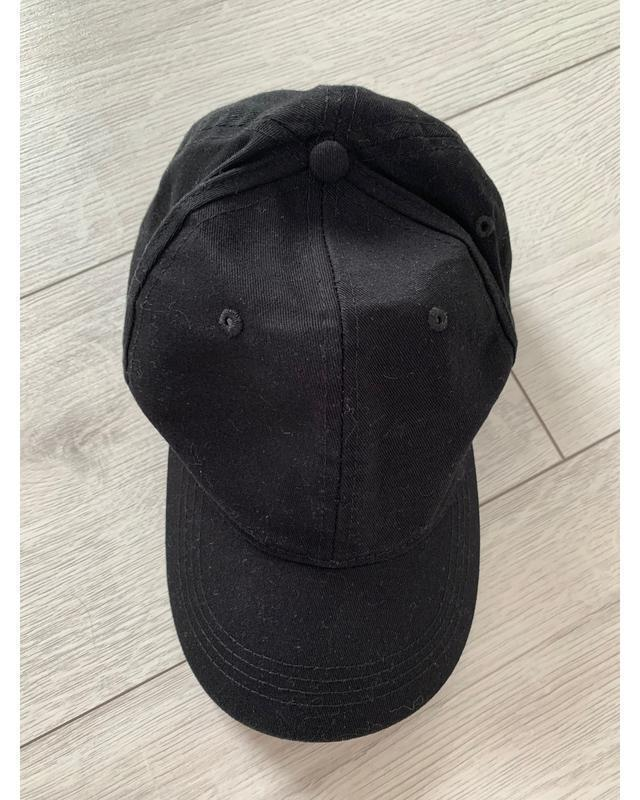 Бейсболка, кепка модна чорна, чорна модна кепка, стильна