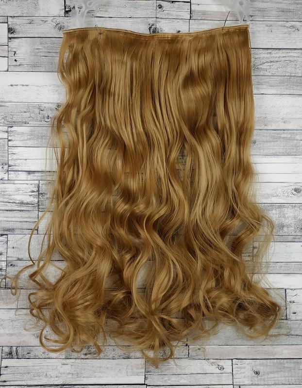 Трессы волосы на заколках русый золотистый 27 7664 шиньон