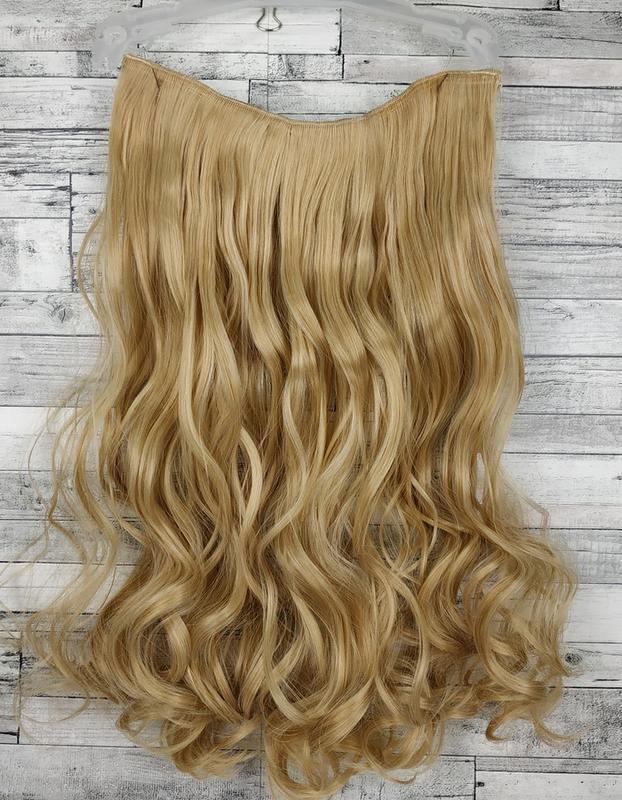 Трессы волосы на заколках блонд золотистый 27/613 6228 шиньон