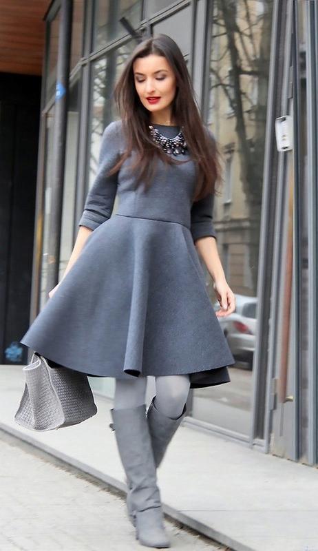 Платье 48 50 размер осеннее мини с рукавом серое короткое asos...