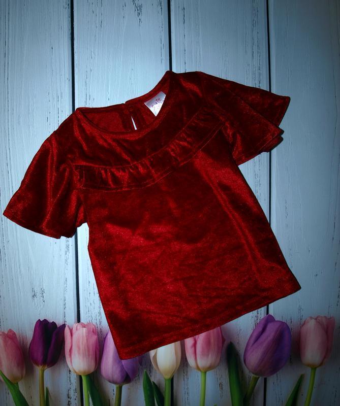 Красивая велюровая блуза