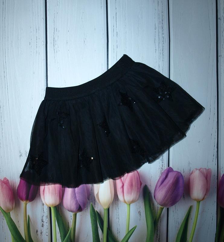 Красивая фатиновая юбка со звездами f&f